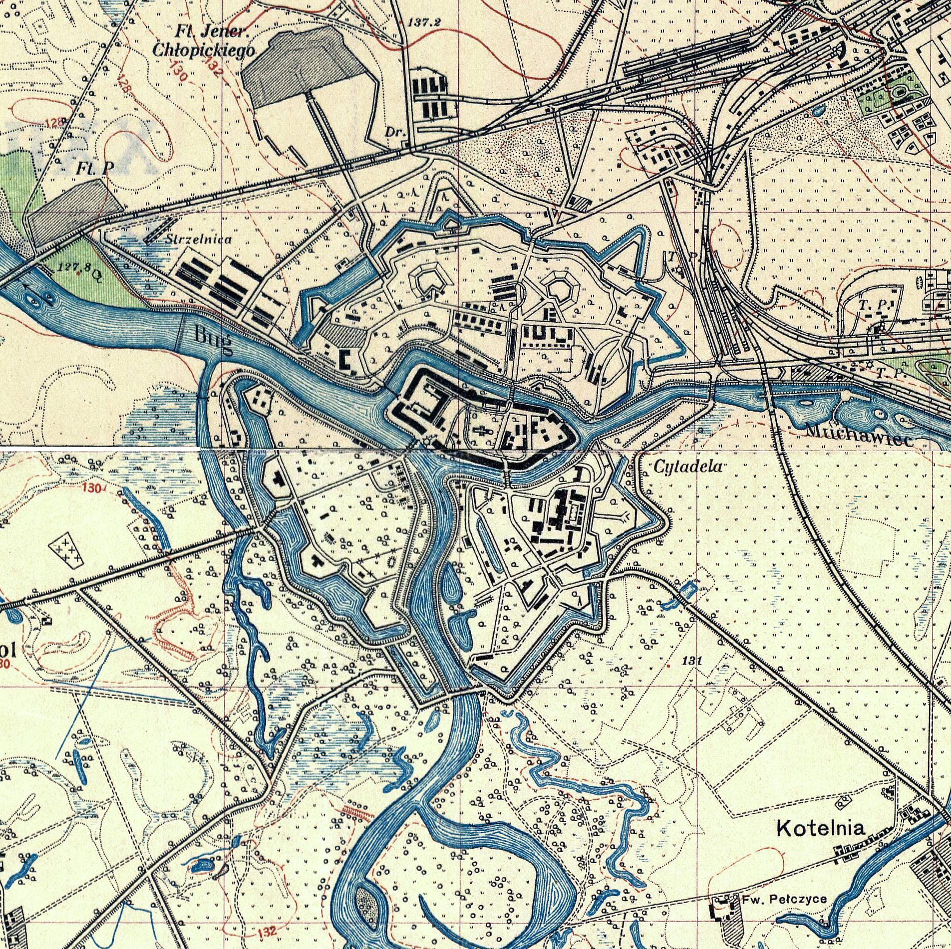 1941 брестская крепость карта схема 1941