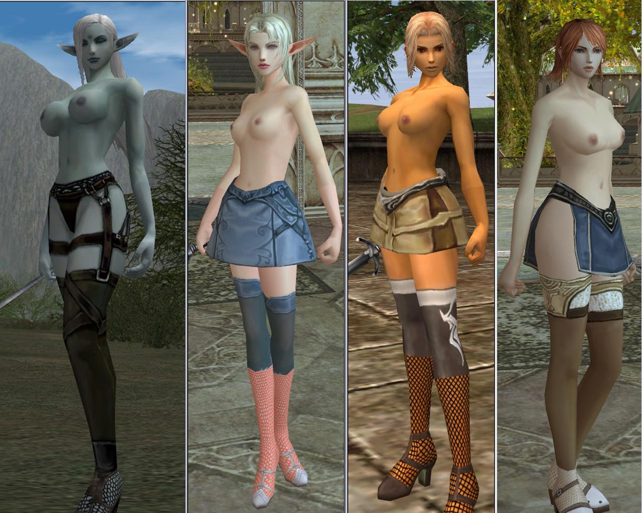 Lineage 2 orc nude naked beauties