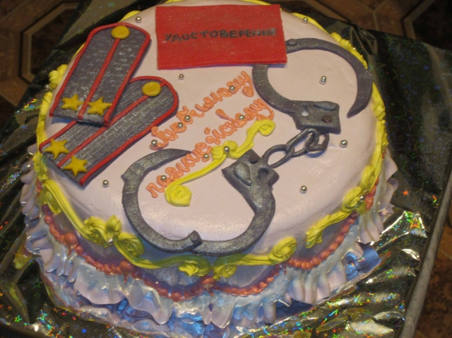 Торт для пролицейчкого фото